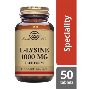 SOLGAR L-Lysine 1000 mg 50s