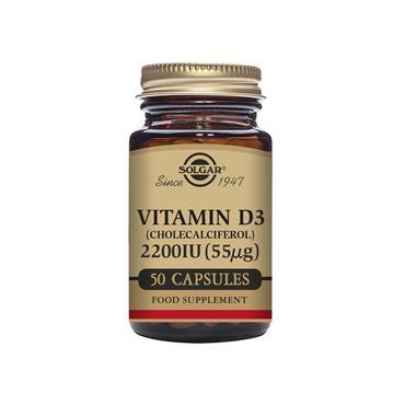 SOLGAR Vitamin D3 (Cholecalciferol) 2200 IU (55 ug) 50s