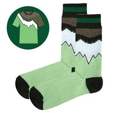 Sicsock The Celts - Away 91| Retro Shirt Socks| Green White