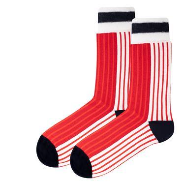 Sicsock Denmark - Home 86 |Retro Shirt Socks| Red / White
