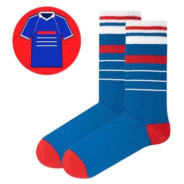 Sicsock France - Home 98 |Retro Shirt Socks| Blue