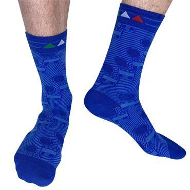 Sicsock Italy - Home 94 | Retro Shirt Socks| Blue