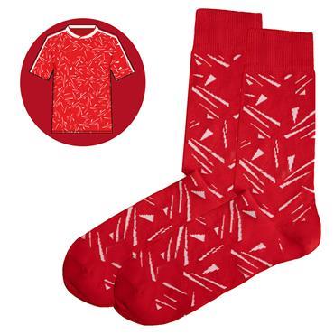 Sicsock Liverpool - Home 89 | Retro Shirt Socks | Red