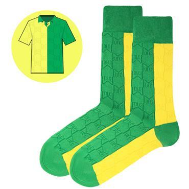 SicSock M.Utd - Away - 92 | Retro Shirt Socks | Yellow / Green