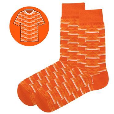 Sicsock Netherlands - Home 88 | Retro Shirt Socks | Orange