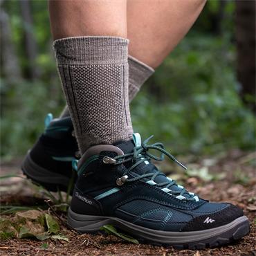 Wild Atlantic Sock Collection  Arctic Merino Wool Hiking  Socks | Light Grey/Charcoal |Women