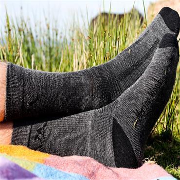 Wild Atlantic Sock Collection  Alpine Merino Wool Hiking  Socks | Charcoal/Black| Men