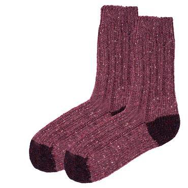 Wild Atlantic Sock Collection  Tweed Wool Hiking Socks Lilac/Purple | Women