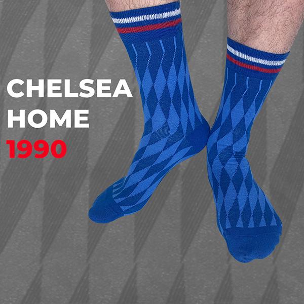 Chelsea Home 1990 Shirt Socks Retro