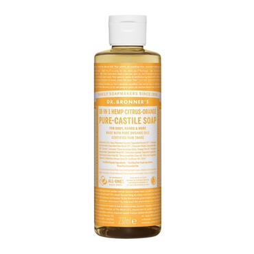 Dr Bronner's Citrus Orange Pure-Castile Liquid Soap 237ml