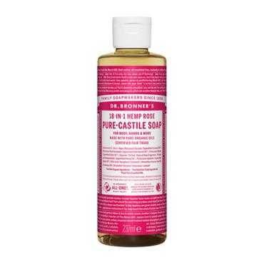Dr Bronner's Rose Pure-Castile Liquid Soap 237ml