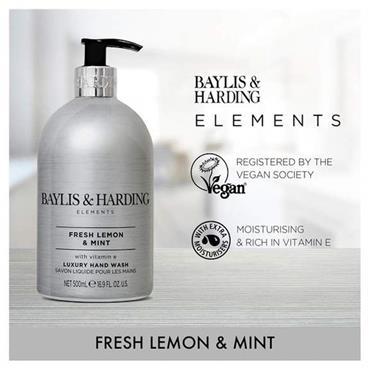 Baylis & Harding Elements Lemon & Mint 500ml Luxury Hand Wash