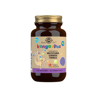 Solgar Kangavites Bouncing Berry Complete Multivitamin and Mineral Formula Chewable Tablets 120s