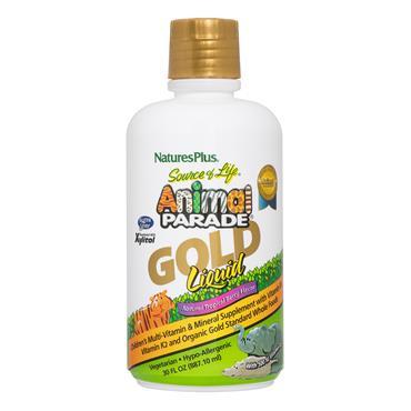 Nature's Plus Animal Parade® GOLD Liquid - Childrens Multi - Tropical Berry 480ml
