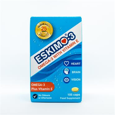 Eskimo-3 Pure Omega-3 Fish Oil Capsules 105caps