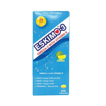 Eskimo-3 Pure Omega-3 with Vitamin E Fish Oil Capsules 250caps
