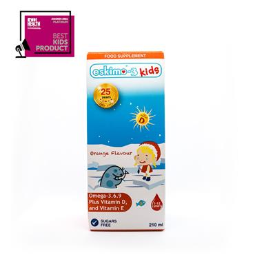 Eskimo-3 Omega 3-6-9 Fish Oil For Kids - Orange 210ml