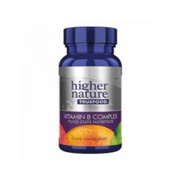 Higher Nature True Food B Complex: B Vitamins  B2, B5, B6 & B12 With Vitamin C