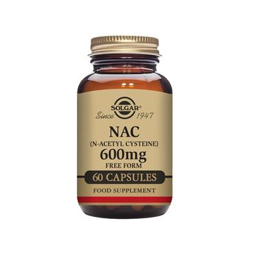 Solgar NAC (N-Acetyl-L-Cysteine) 600 mg Vegetable Capsules - Pack of 60
