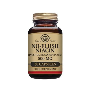 Solgar Niacin (Vitamin B3) 500 mg Vegetable Capsules - Pack of 100