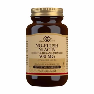 Solgar No Flush Niacin 500 mg Vegetable Capsules - Pack of 50