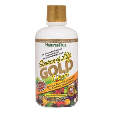NATURE'S PLUS - SOURCE OF LIFE GOLD LIQUID MULTIVITAMIN - 887ML