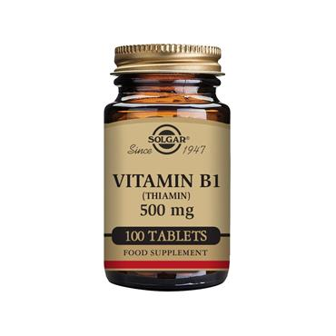 Solgar Vitamin B1 (Thiamin) 500 mg Tablets  - Pack of 100