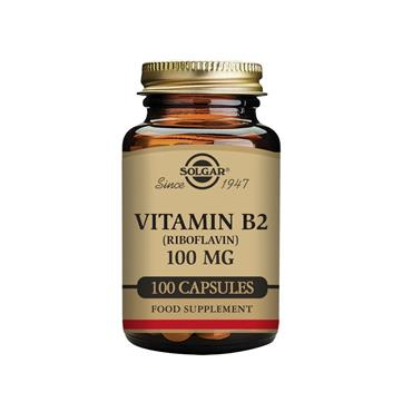 Solgar Vitamin B2 (Riboflavin) 100 mg Vegetable Capsules  - Pack of 100