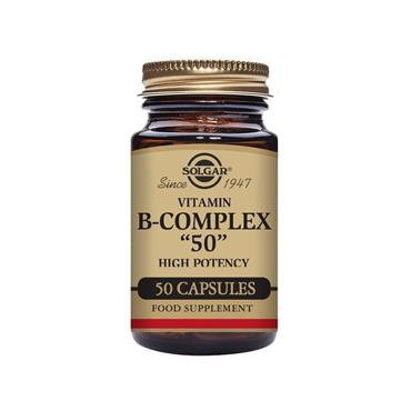 "Solgar Vitamin B-Complex ""50"" High Potency Vegetable Capsules - Pack of 100"