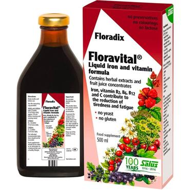 Floradix Floravital Liquid Iron and Vitamin Formula 500ml