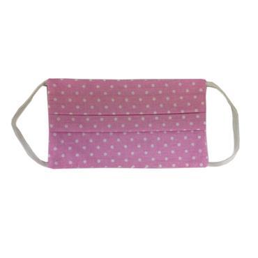 100% Cotton Reusable Mask - Pink Dot 2ply