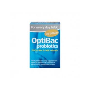 OptiBac Probiotics For Every Day Max Strength 50 Billion 30 Capsules