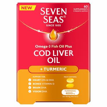 Seven Seas Col Liver Oil With Turmeric (60 Piece)