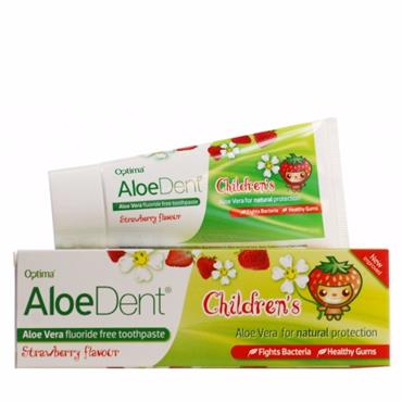 Aloe Dent Children's Flouride Free Strawberry Toothpaste 50ml