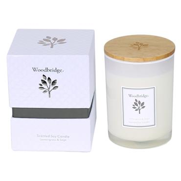 Woodbridge Lemongrass and Sage Scented Soy Candle 270g