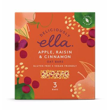 Deliciously Ella APPLE, RAISIN & CINNAMON BAKED OAT BAR 3PK