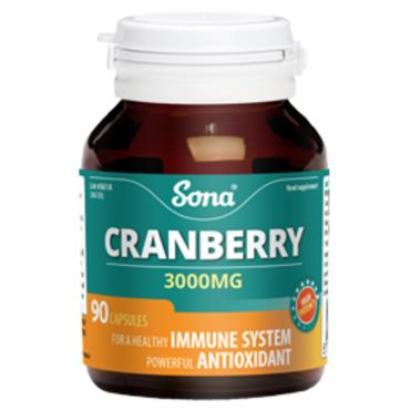 Sona Cranberry 3000mg 90 Caps