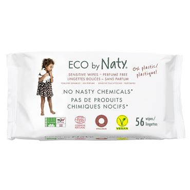 Eco By Naty Sensitive Baby Wipes-Unscented 56s