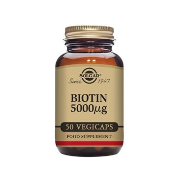 Solgar Biotin 5000 ug Vegetable Capsules - Pack of 50