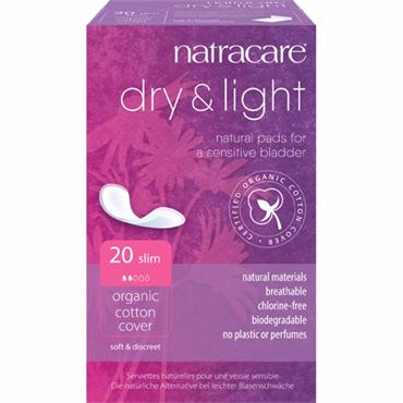 NatraCare Organic Cotton Dry & Light Pads - Pack of 20