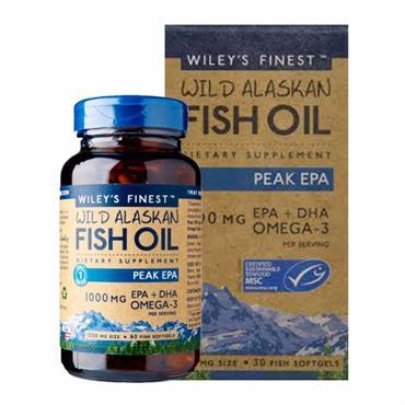 Wiley's Finest Wild Alaskan Fish Oil Peak EPA 1250mg 60 Caps