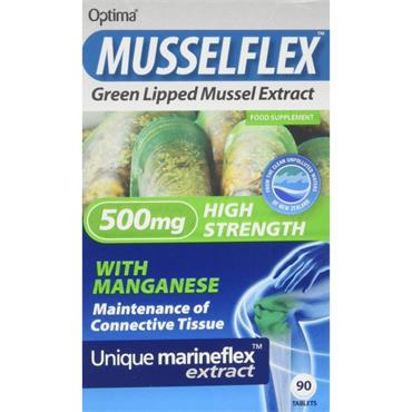 Optima Healthcare Musselflex Green Lipped Mussel Extract 90 Tabs