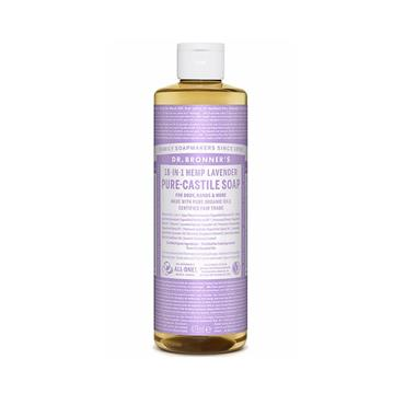 Dr. Bronner's 18-IN-1 Lavender Castile Pure-Castile Soap (475ml)