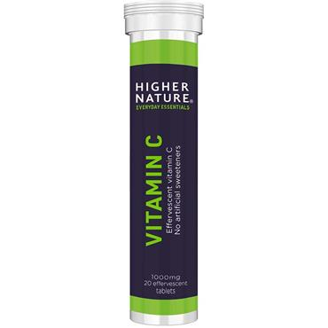Higher Nature Vit C Effervescent 1000mg - 20 Tabs