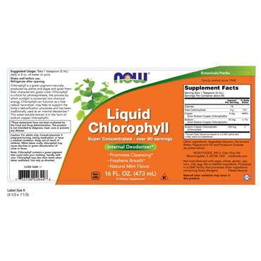 NOW Supplements, Liquid Chlorophyll, Super Concentrated,  Mint Flavour, 473ml