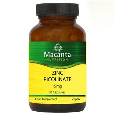 Macanta Nutrition Zinc Picolinate 15mg 30s