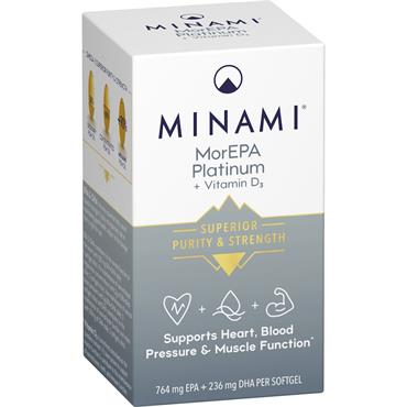 MINAMI MorEPA PLATINUM + Vitamin D3 Orange flavour 60 Softgels