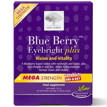 New Nordic Blueberry eyebright Mega 30 tablets