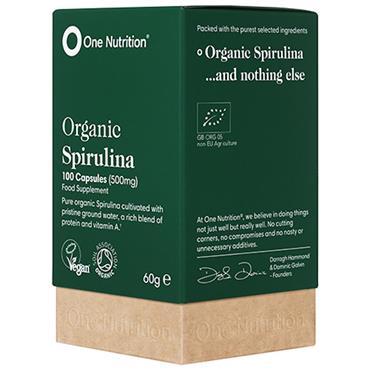 One Nutrition® Premium Spirulina - 100 Capsules