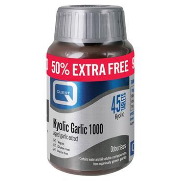 Quest Kyolic Garlic - 50% Extra FREE - 30+15 x 1000mg Tablets(Vegan)